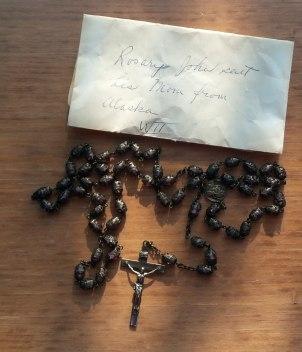 Rosary John sent his Mom from Alaska WWII