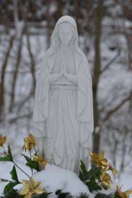 Mother Mary in snow